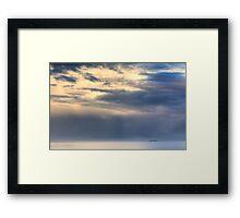 Alone At Sea Framed Print