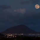 Hawaii Blue Moon of 2015 Over Koko Crater.  by Alex Preiss
