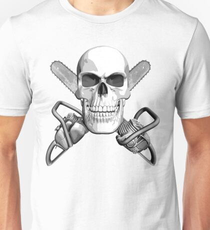 Skull and Chainsaws Unisex T-Shirt