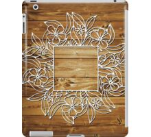 Simple Floral Frame - Natural iPad Case/Skin