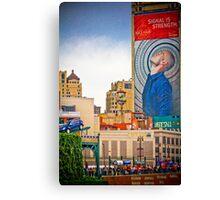 Colorful Detroit View Canvas Print