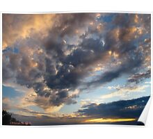 Boxing clouds at dusk Poster