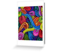 Psychedelic Lines Greeting Card