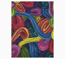 Psychedelic Lines Kids Clothes