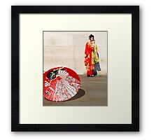 London meets Japan Framed Print
