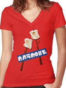 Splatfest Team Marshmallows v.4 Women's Fitted V-Neck T-Shirt