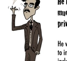 3 Out of 4 Cracked! viewpoints of Nikola Tesla Sticker