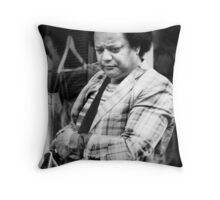 a discerning shopper Throw Pillow