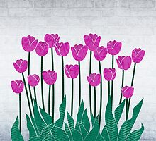 Magenta Tulips by Janet Carlson