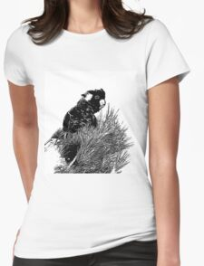 ~ Yellow-tailed black cockatoo ~ Womens Fitted T-Shirt