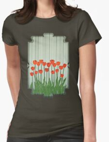 Orange Tulips Womens Fitted T-Shirt
