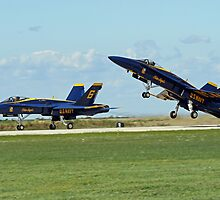 Blue Angels Lift-Off by Jeff  Burns