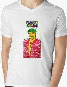 Manu Chao Reggae Ska Pop Folk Art Mens V-Neck T-Shirt