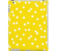 Ditsy classic polka dot pattern in white and yellow colors iPad Case/Skin