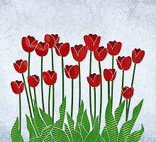 Red Tulips by Janet Carlson