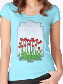 Red Tulips Women's Fitted Scoop T-Shirt