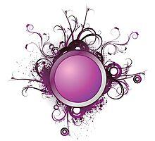 Purple Splash Photographic Print