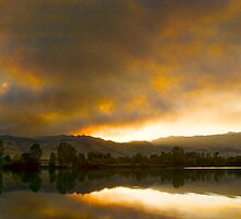 Coot  Lake Sunset Boulder County Colorado by Bo Insogna