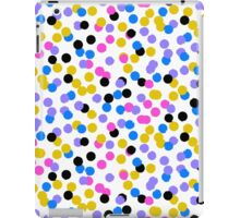 Polka dot print in random blue, black, yellow colors iPad Case/Skin