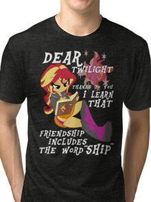 """Friend """"ship"""" is magic! Tri-blend T-Shirt"""
