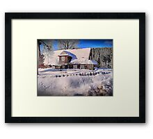 Sunny day after a snow storm  Framed Print