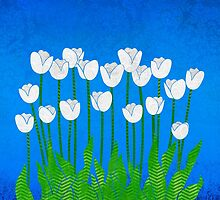 White Tulips by Janet Carlson