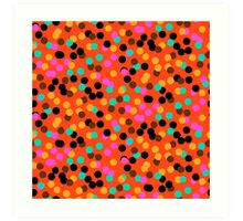 Polka dot print in bright fall colors colors Art Print