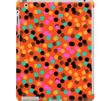 Polka dot print in bright fall colors colors iPad Case/Skin