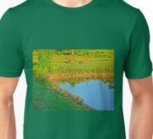 Geese on a pond bank 2 Unisex T-Shirt