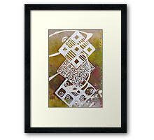 Batik Diamond Chain Framed Print