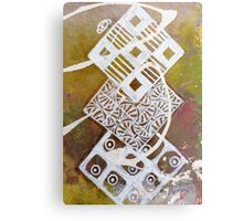Batik Diamond Chain Metal Print