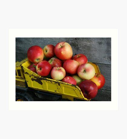 Truckload of Apples Art Print