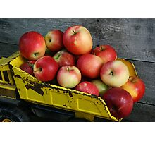 Truckload of Apples Photographic Print