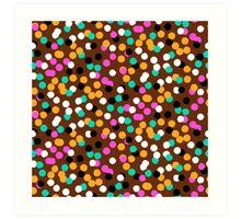Festive confetti print in bright fall colors Art Print