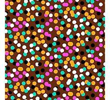 Festive confetti print in bright fall colors Photographic Print