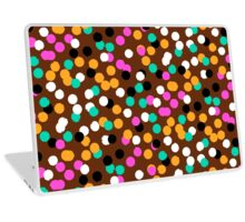 Festive confetti print in bright fall colors Laptop Skin