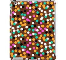 Festive confetti print in bright fall colors iPad Case/Skin