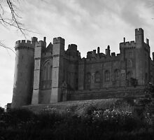 Arundel Castle - Monochrome by Steve Churchill