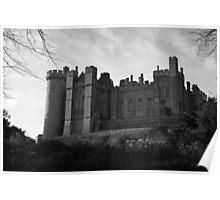 Arundel Castle - Monochrome Poster