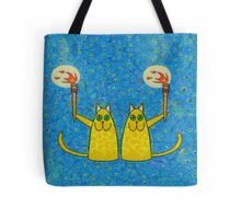 CATS WITH FLAMING TORCHES Tote Bag