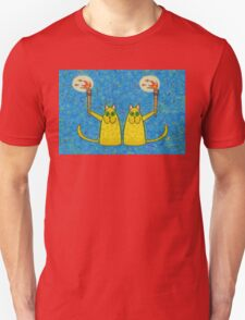 CATS WITH FLAMING TORCHES Unisex T-Shirt