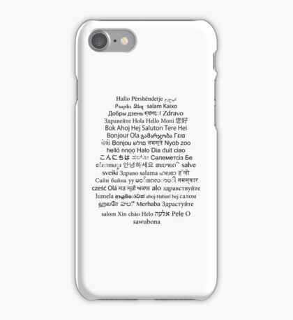 Hello World iPhone Case/Skin