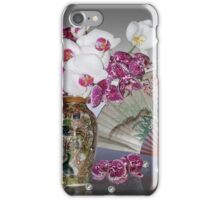 Asian still life with orchids iPhone Case/Skin