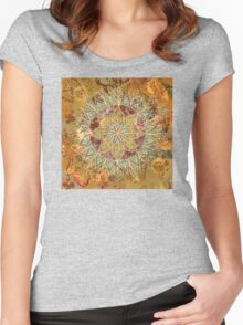 Mixed Media Mandala Women's Fitted Scoop T-Shirt