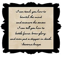 Snape's First Day of School Speech by sisterphipps