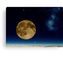 Death Valley Moon Canvas Print