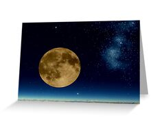 Death Valley Moon Greeting Card