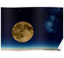 Death Valley Moon Poster