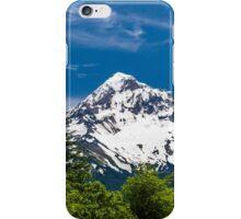 Mount Hood Framed by Fir Trees iPhone Case/Skin