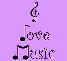 I Love Music - Pop Purple by moonshinepdise